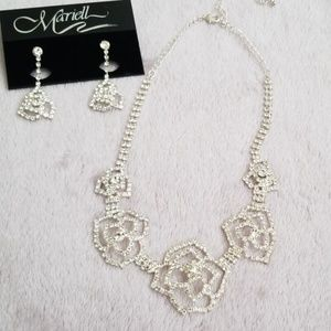 Delicate Mariell Bridal Flower Jewelry Set